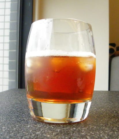 A glass half full of black tea - ToDoTea