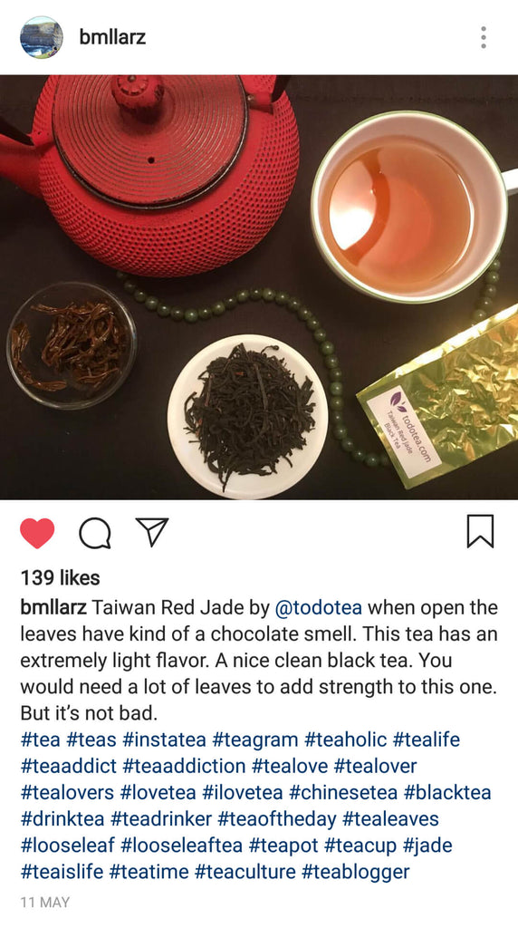 Taiwan Red Jade Black Tea Instagram bmllarz - ToDoTea