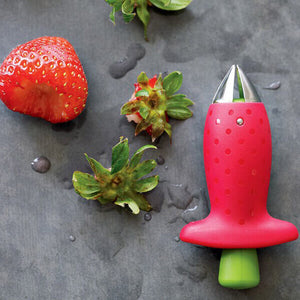 Handy Strawberry Huller with Strawberry Stem and Leaf - ToDoTea
