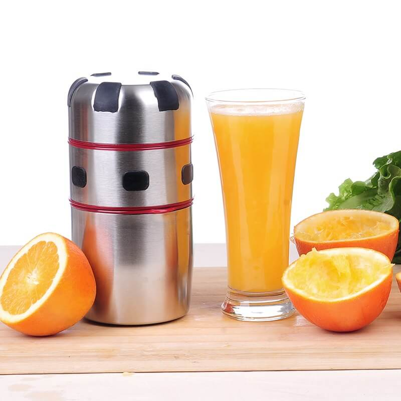 Stainless Steel Orange and Grapefruit Juicer and Empty Oranges - ToDoTea