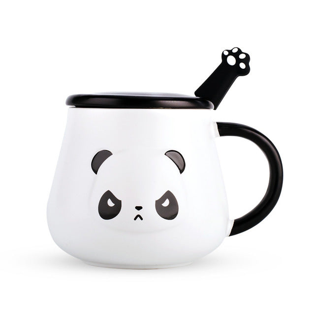 Angry Panda Mug with Paw Spoon - ToDoTea