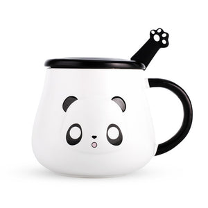 Innocent Panda Mug with Paw Spoon - ToDoTea
