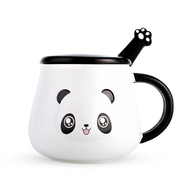 Happy Panda Mug with Paw Spoon - ToDoTea