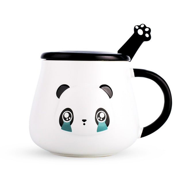 Crying Panda Mug with Paw Spoon - ToDoTea