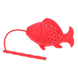 Fish Tea Infuser Red - ToDoTea