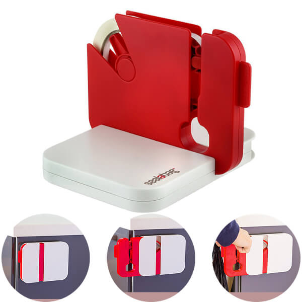 Red Portable Bag Sealing Tape Dispenser - ToDoTea