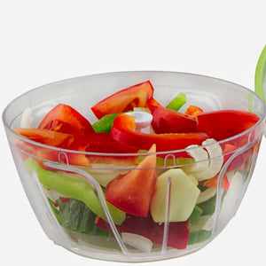 White Speedy Manual Food Chopper With Salad - ToDoTea