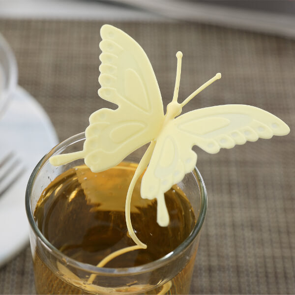 Butterfly Tea Infuser Yellow - ToDoTea