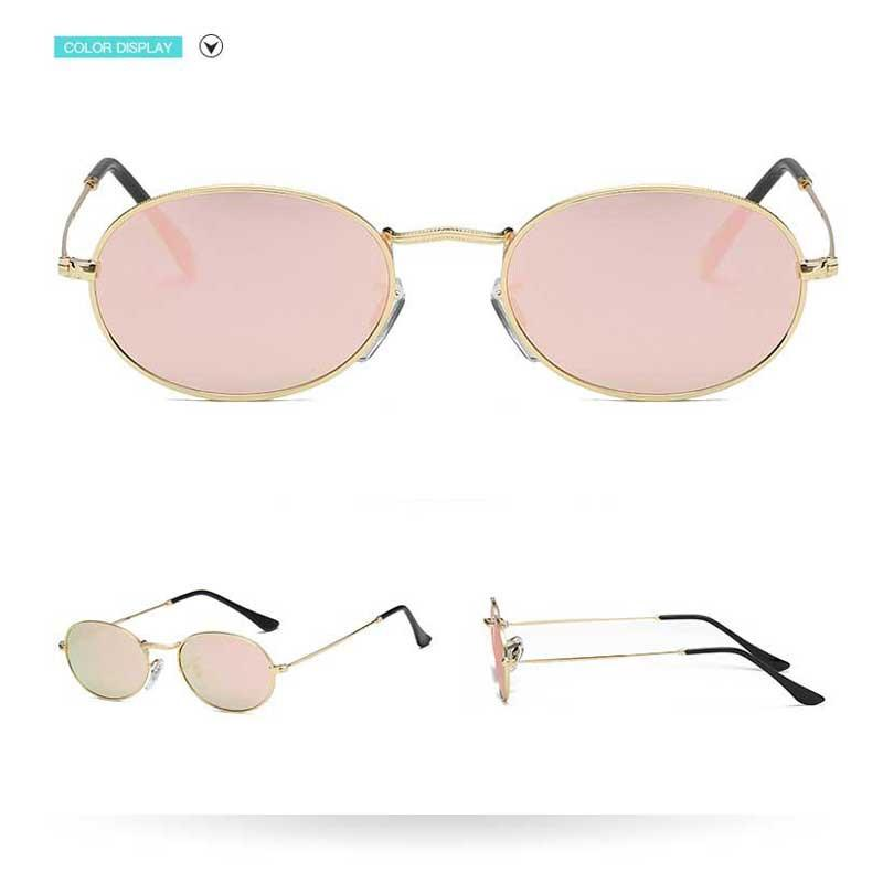 d71964f614 Small Round Sunglasses Women Sunglasses Brand 2018 Oval Vintage Metal Frame  Glasses Fashion Men Vintage Coating Mirror Shades