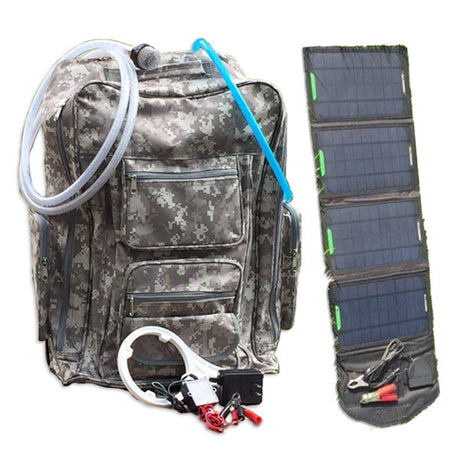 Solar Powered Water Purifier Backpack - 100 Gallons per Day