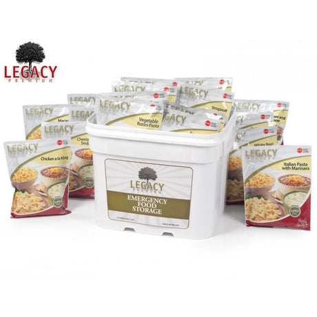 120 Serving Breakfast, Lunch, and Dinner Bucket
