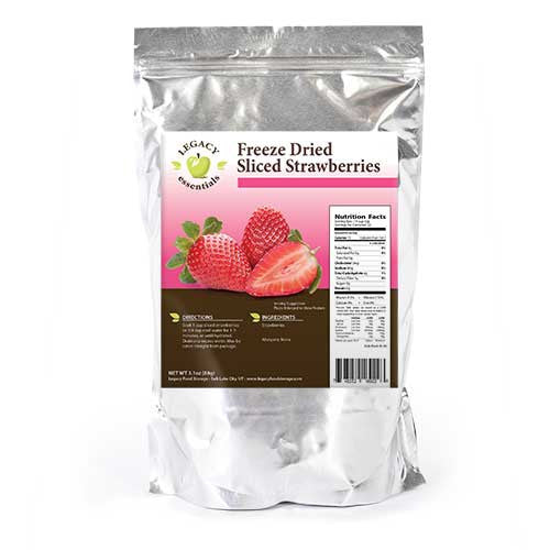 Freeze Dried Strawberries - Long Term Food Storage