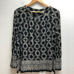 LUCKY Size 1X Black & White Top