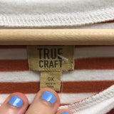 True Craft Size 0X Orange Top