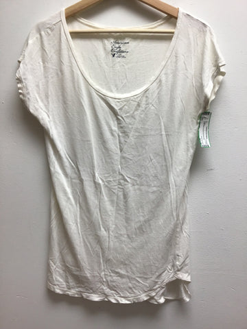 American Eagle Size Small White T-Shirt