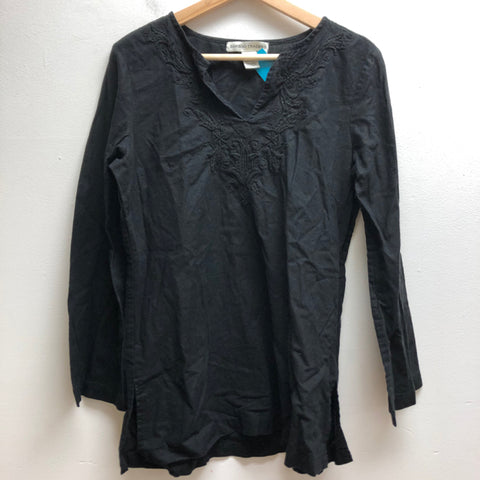 Bamboo Traders Size Medium Black Top