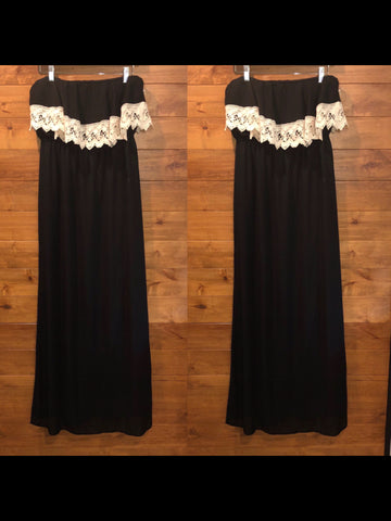 Size M Peach Love black & white Dress