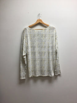 worthington Size Large White/Black Top