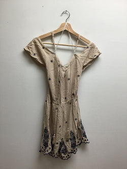 Size M love tree beige & navy Dress