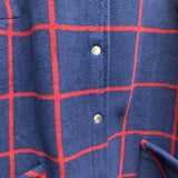 d & co Size 1X Navy & Red Jacket