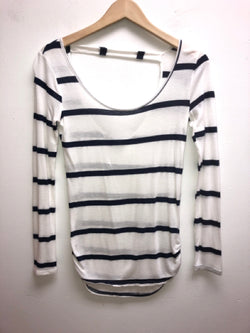 Charlotte Russe Size XS Blue & White Top