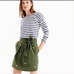 Size 0 J.Crew Green Skirt