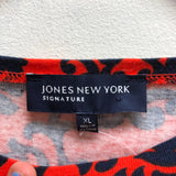 Jones New York Size XL Red Top