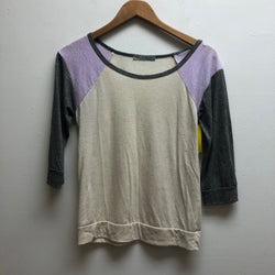 Julie's Closet Size Medium gray, purple, & cream Top