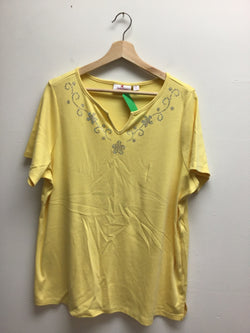 quaker factory Size 1X Yellow Top