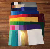 "63 Sheets Oracal 651 One of Each Color Outdoor Permanent Adhesive Vinyl 12"" x 12"" Sheets"