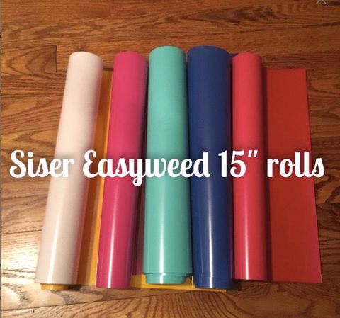 1 Yard Siser Easyweed HTV Iron on Vinyl Rolls