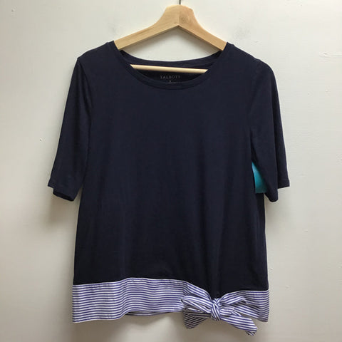 Talbots Size Small Navy Top