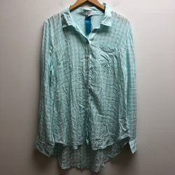 Crown & Ivy Size XL Teal Top