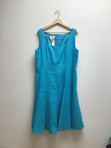 Talbots Size 16 Blue Dress