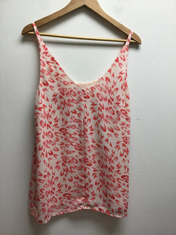 Cabi Size Small Pink/White Tank Top