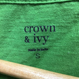 Crown & Ivy Size Small Green Top