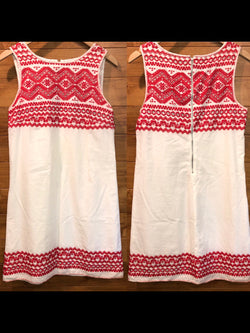 Size M Max Studio red & white Dress
