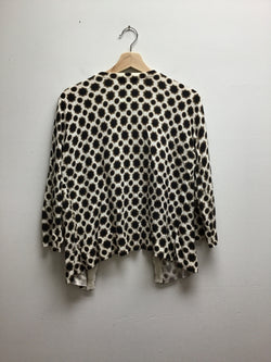 Merona Size Large White/Black Sweater