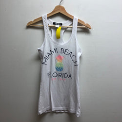 surf style Size Small White Tank Top