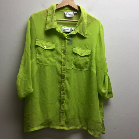Linea Size 1X Green Top
