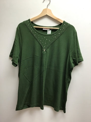 quaker factory Size XL Green Top