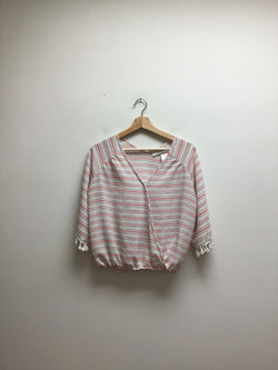 Lavender Fields Size Large Stripe Top