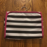 Black and White Stripe travel toiletry bag
