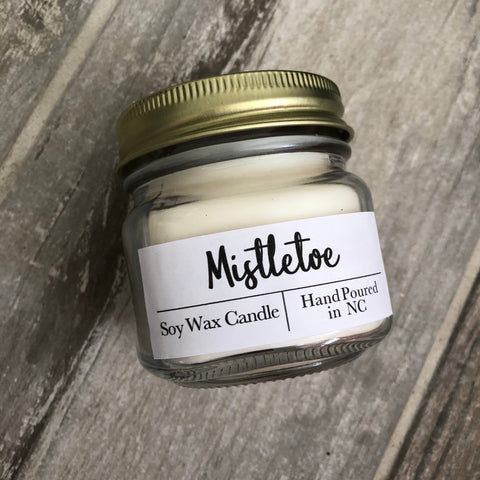 Mistletoe Scent Soy Wax Candle