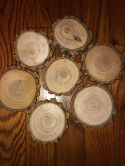 "3-4"" wood slices"