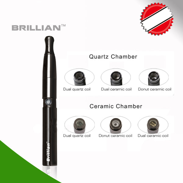 Airistech Brillian Wax Pen kit (BLACK) - Ceramic Dual Quartz Coil Vape