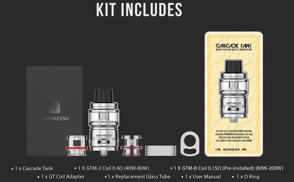 Vaporesso Cascade 7ML 24mm Sub Ohm Tank