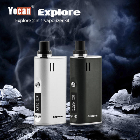 Yocan Explore 2 in 1 Dry and Wax pen dab kit Authentic Vape