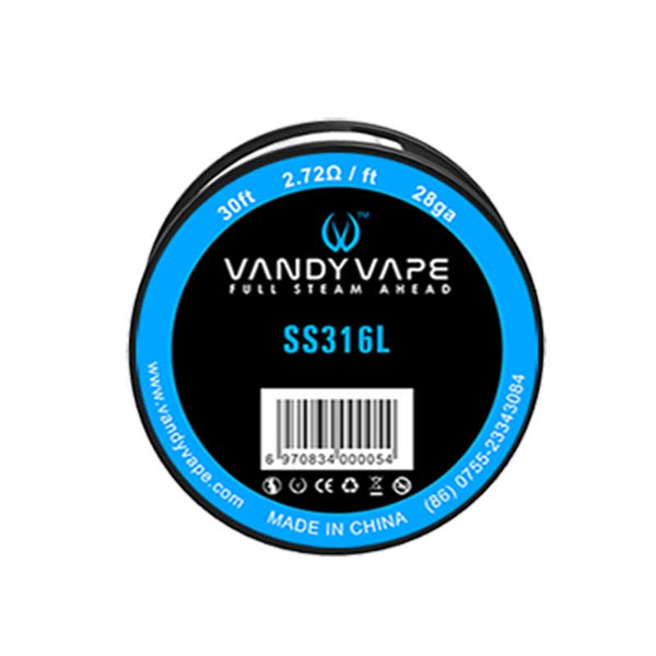 VandyVape Resistance DIY WIRE SS316L 30ft for RDA RBA RTA RDTA