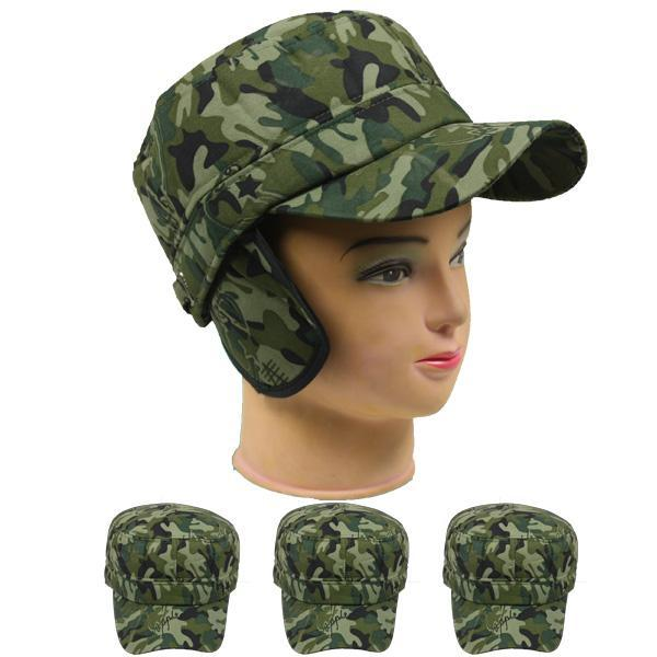 camouflage Men Women Winter Cap Winter Snow Ski Hat with ear warmers
